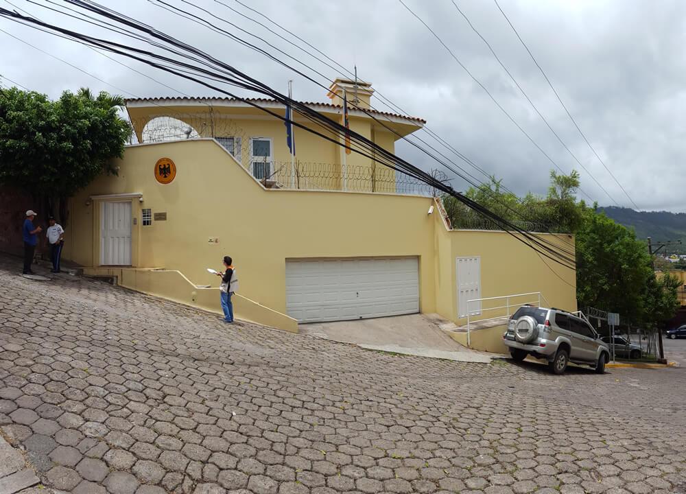 Levantamiento De La Situación Actual Edificio De La Embajada De Alemania En Tegucigalpa, Honduras