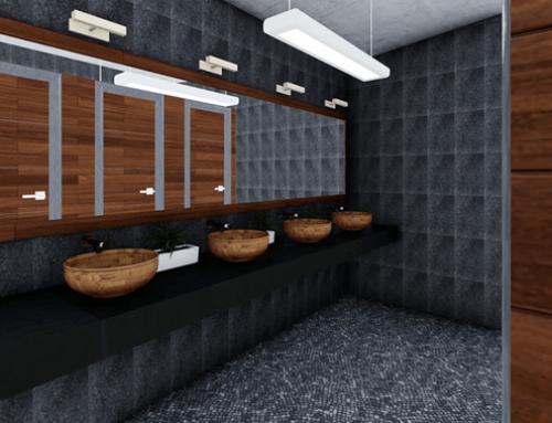 Modelado y renderizado de baños Sanchez & Sanchez