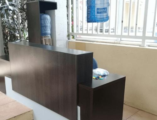 Fabricación de mueble recibidor Embajada de Alemania
